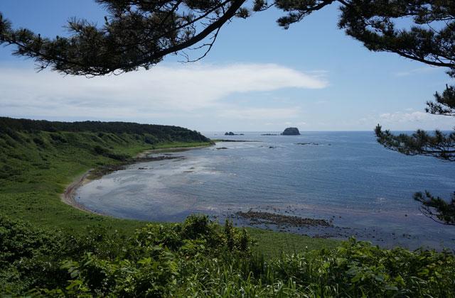八幡崎と西海岸の眺望