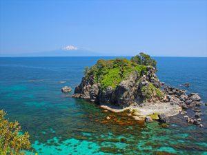 飛島から見た日本海